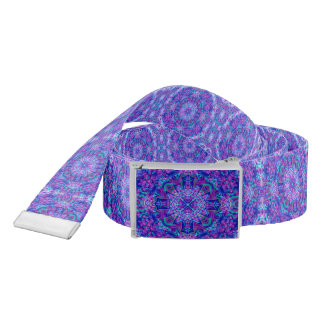 Purple And Blue Kaleidoscope    Custom Belts