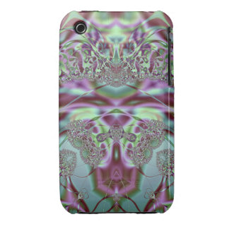 Purple and Blue Lace Case-Mate iPhone 3 Case