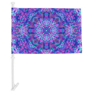 Purple And Blue Pattern  Customizable Car Flags