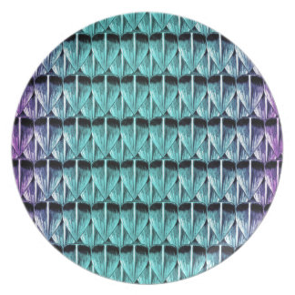 Purple and Blue Scales Plate