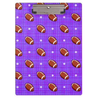 Purple and Brown Football Pattern Clipboard