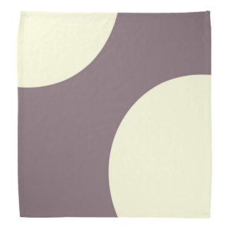 Purple and cream abstract bandana