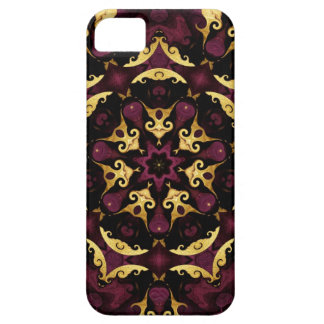 Purple and Gold Filigree Kaleidoscope iPhone5 Case