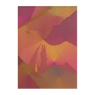 "purple and gold ""No Paradox"" abstract art board"