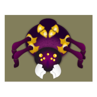 Purple and Gold Spider Postcard