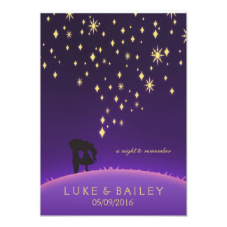 Purple and Gold Stars Card
