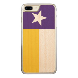 Purple and Gold Texas Flag Carved iPhone 8 Plus/7 Plus Case