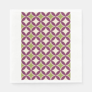 Purple and green circles disposable napkins
