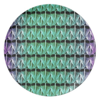 Purple and Green Scales Plate