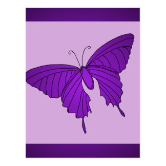 Purple and Lilac Butterfly Lavender Violet Post Card