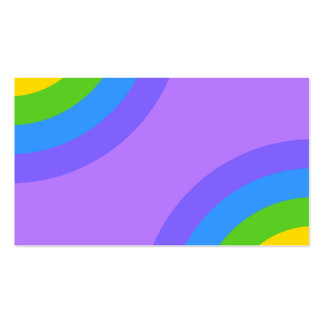 Purple and Multicolor Abstract. Business Card
