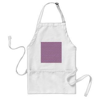 Purple and Orange Chevron Stripes Zip Zag Pattern Adult Apron