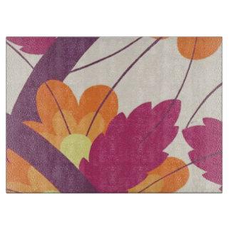 Purple and Orange Floral Pattern