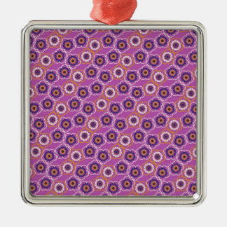 Purple and Orange Floral Pattern Gifts Ornament