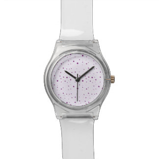 Purple and Pastel Lilac Speckled Watch