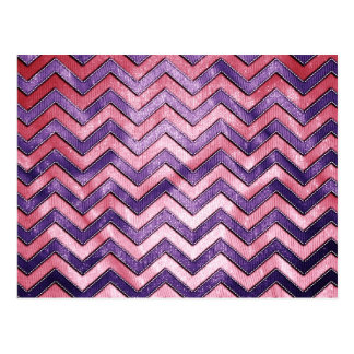 Purple and Pink Zig Zag Postcard