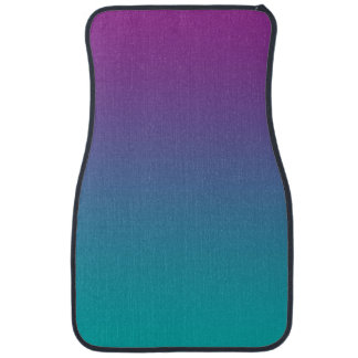 """""""Purple And Teal Ombre"""" Floor Mat"""