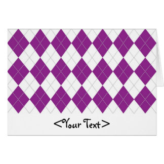 Purple and White Argyle Pattern Card