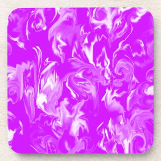 Purple and White design mixed color Coasters