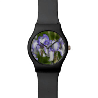 Purple and White Irises Watch