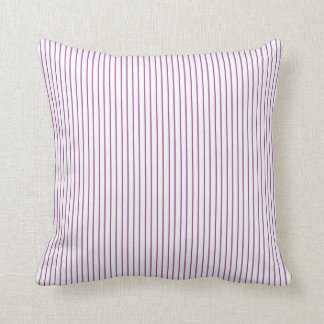 Purple and White Pinstripe Pillow