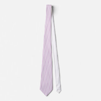 Purple and White Pinstripe Tie
