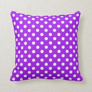 Purple and White Polka Dots Cushions