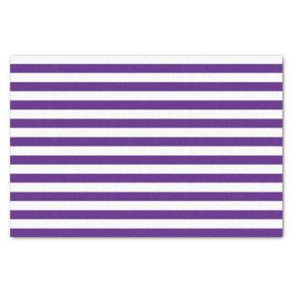 Purple and White Stripes Tissue Paper