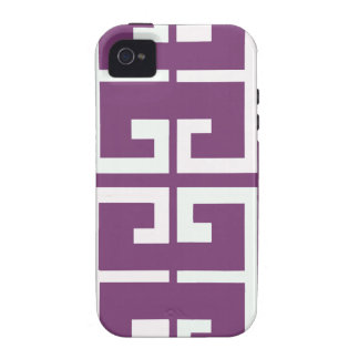 Purple and White Tile Vibe iPhone 4 Cases