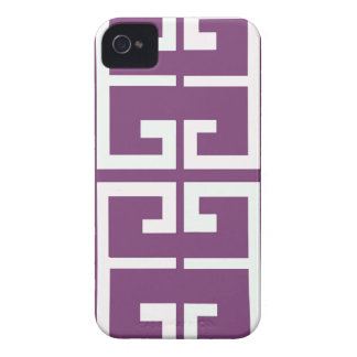 Purple and White Tile iPhone 4 Cases