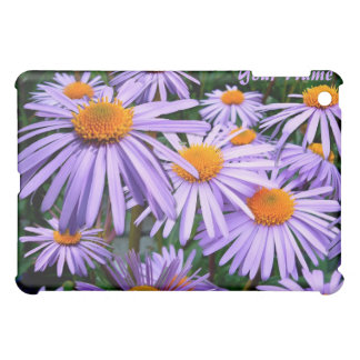 Purple Asters IPad case *personalize*