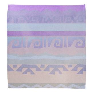 Purple Aztec Pattern Bandana