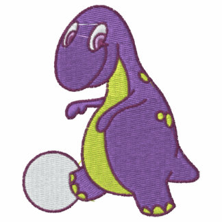 Purple Baby Dinosaur Embroidered Shirt