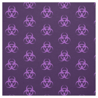 Purple Biohazard Symbol Fabric
