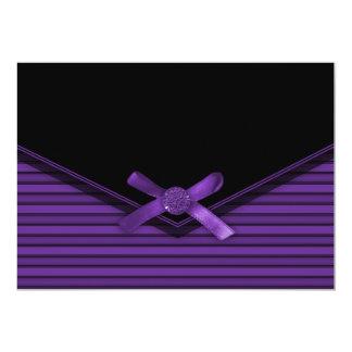 Purple & Black Envelope Invitations