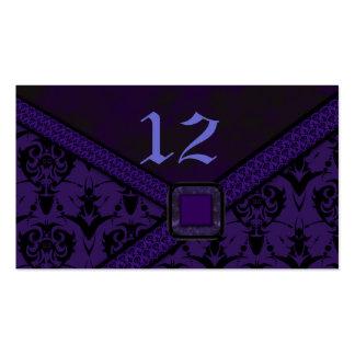 Purple Black Goth Lace Wedding Business Card