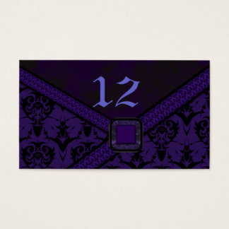 Purple & Black Goth Lace Wedding Business Card