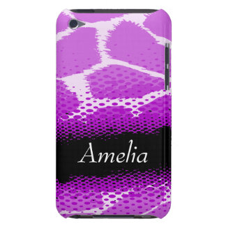 Purple & black graphic animal print ipod case barely there iPod cases