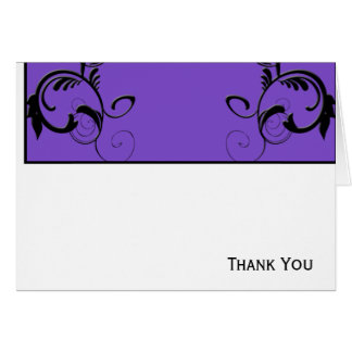 Purple & Black Monogram Filigree Card