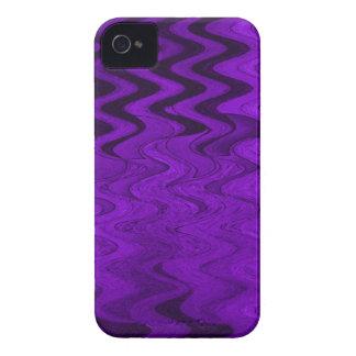 Purple black pattern iPhone 4 Case-Mate case
