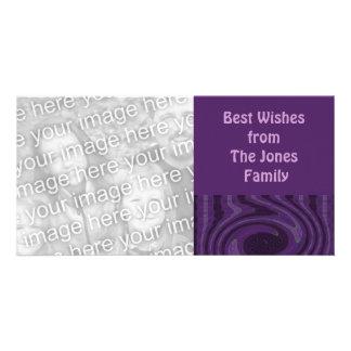 purple black  vibes custom photo card