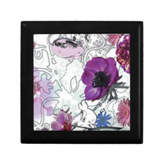 Purple Blooms Floral Gift Box
