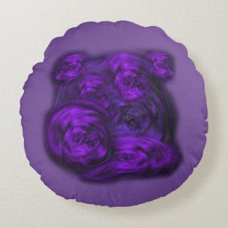 Purple Blossoms Round Cushion