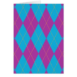 Purple & Blue Argyle Card