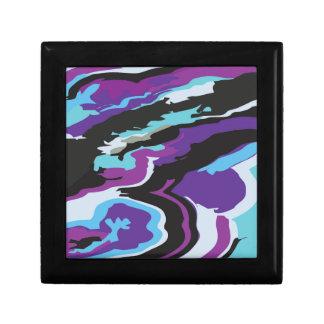 Purple Blue Camouflage Gift Box