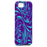 Purple Blue Floral Iphone 5 Case-Mate Case