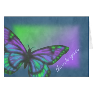 Purple Blue Green Butterfly Greeting Card