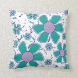 Purple blue impatients cushion