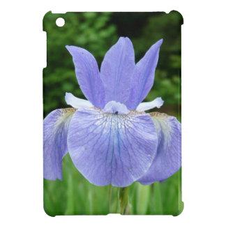 Purple Blue Siberian Iris Floral Photograph Case For The iPad Mini