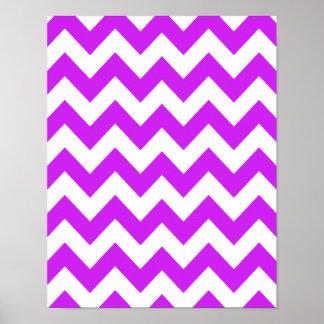 Purple Bold Chevron Poster